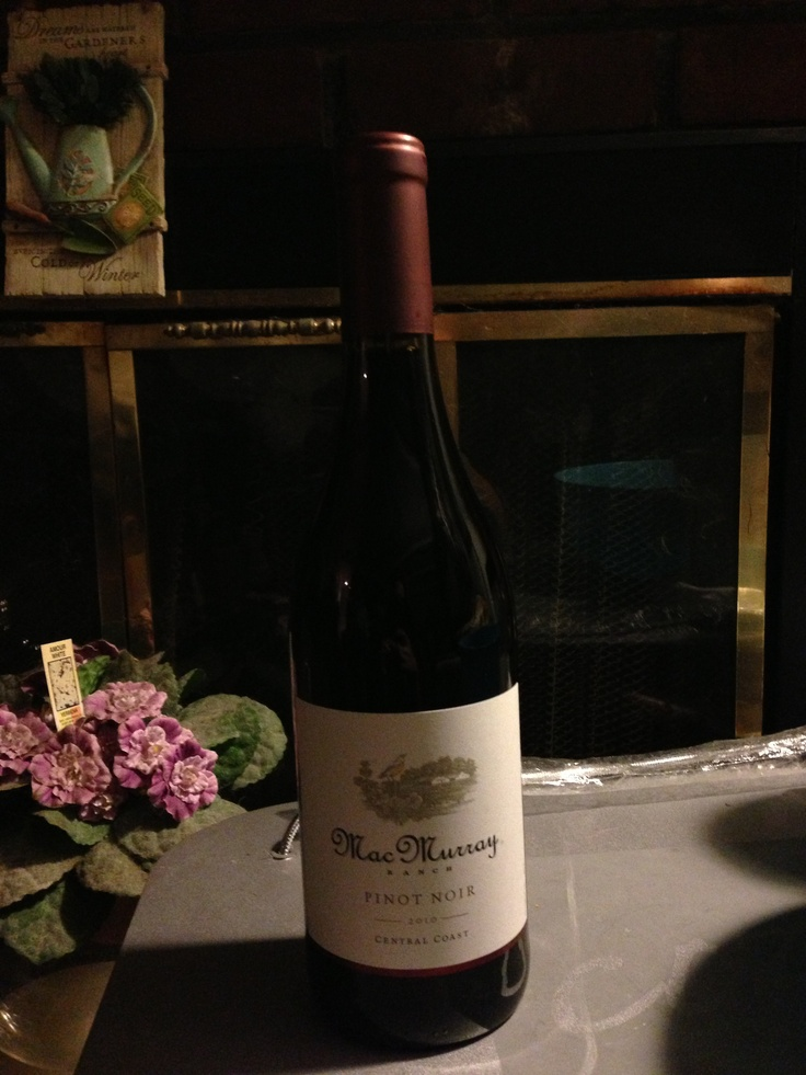 MacMurray Pinot noir  paired very well with LaBrea Bakery Cranberry Walnut Loaf & German triple churned Brie with Wild Mushrooms from Trader Joes. Caloriciously Delicious :0)