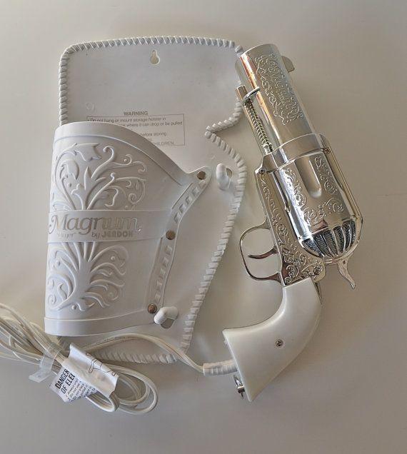 357 Magnum Hair Dryer. Vintage Novelty Pistol Gun Hairdryer.