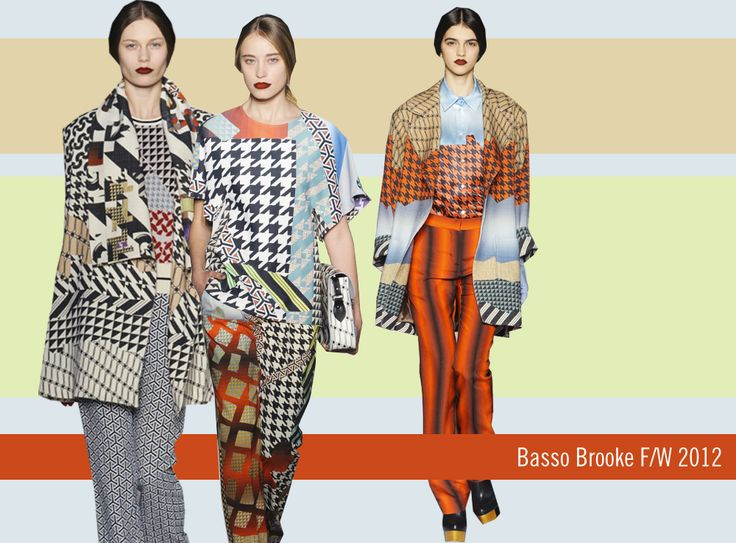 Basso and Brooke F/W 2012Gorgeous Prints, Basso Brooks, 2012 Fabrics, Brooks F W, Fw 2012, Fashion Editorial, Mixed Pattern, Fashion Flash, Fashion Fabrics