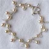 Image detail for -Freshwater Pearl, Crystal & Silver Bracelet