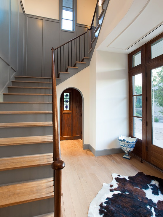 Tudor Gray Paint Ivory Walls And Natural Wood Floors