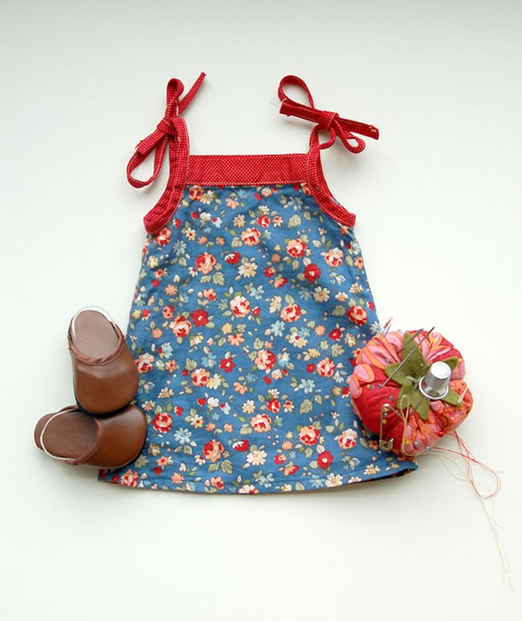 Popover Doll Dress: free downloadable pattern-also matching girl pattern