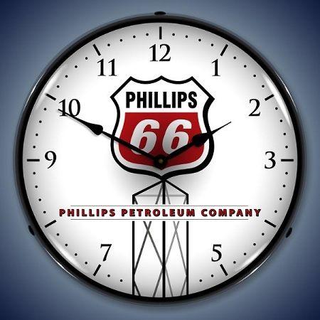 Lighted Phillips 66 Clock Profile