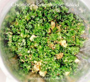 chopped kale-apple salad
