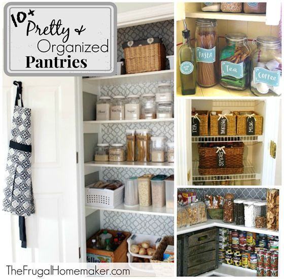 10+ pretty and organized pantries