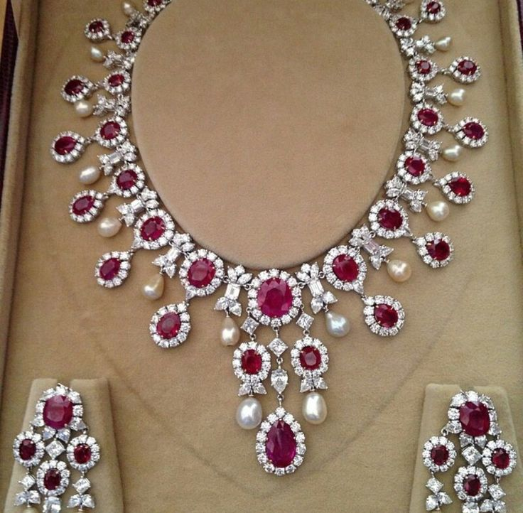 Diamond and ruby set Regram from Instagram