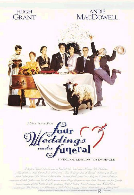 five weddings and a funeral   På SVT1 visas, klockan 22:00, den romantiska komedin What happens in ...
