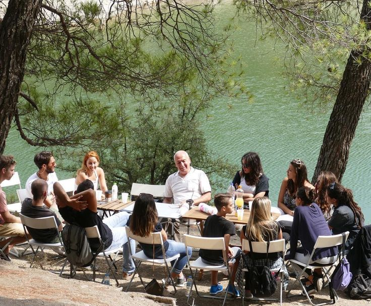 "The 'School of Earth and Heaven', create another outdoor knowledge and wisdom atmosphere on Saturday September 10 to Parnitha, in Beletsi lake. The topic of the meeting was "" The relationship between body - soul - spirit. "" which was edited by thinker Alexis Karpouzos."