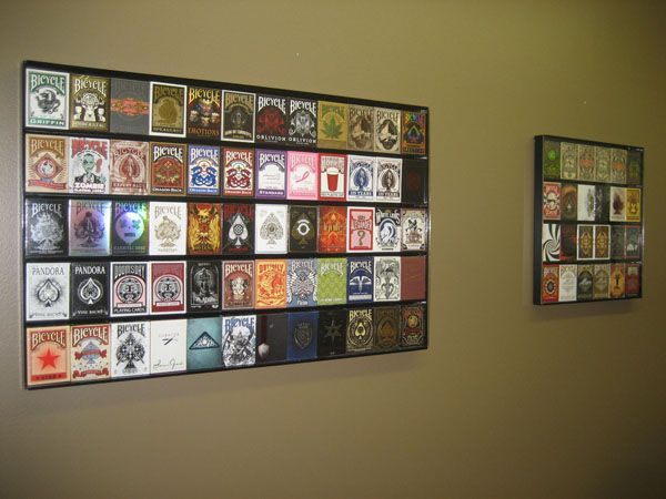 How to build playing card display case