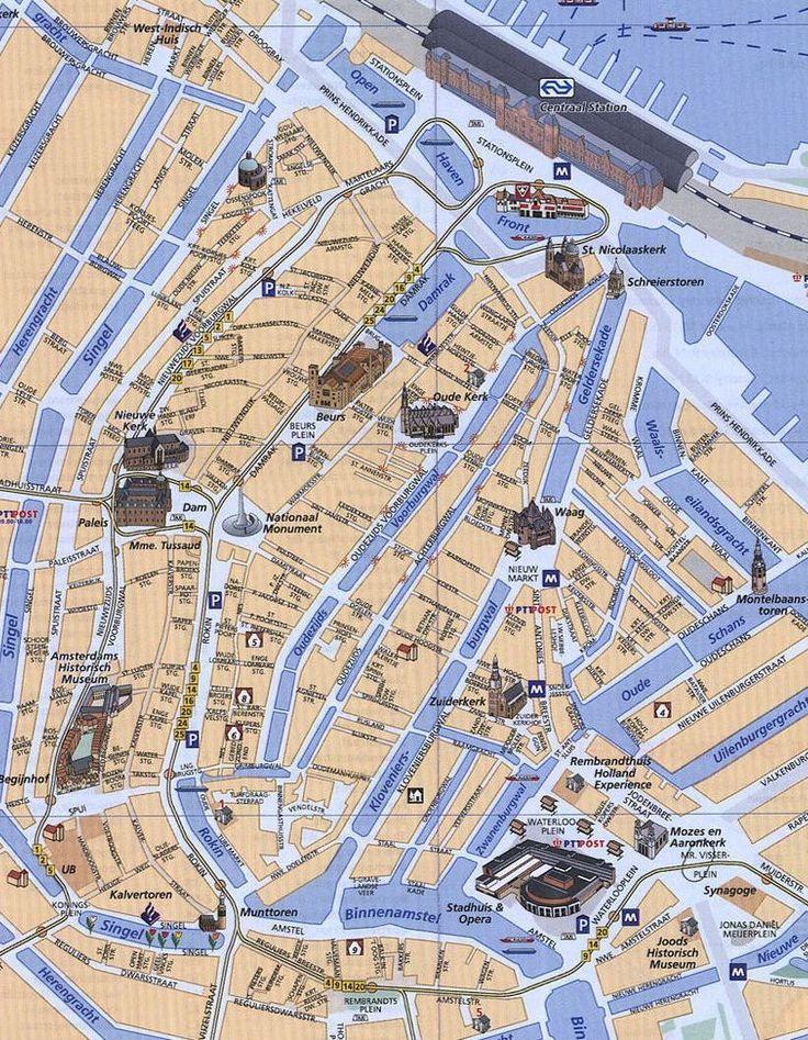 map amsterdam tram bus