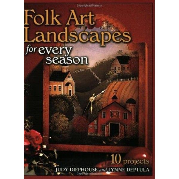 Folk Art Landscapes for Every Season  Folk painting is rich with quaint, picturesque scenery, from rolling hills and rural farmland to old-fashioned barns, churches and country stores. This beautiful guide captures the warm, simplistic style that typifies #FolkArtPainting, featuring 10 charming decorative painting projects. Designed to adom everything from boxes and floor cloths to picnic baskets, each project comes with an easy-to-trace pattern, detailed instructions and step-by-step…