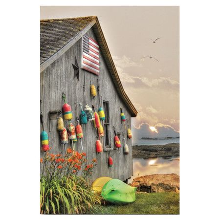 Perfect as an eye-catching focal point or in a coastal-chic vignette, this lovely canvas print showcases a serene seaside motif.  Pr...