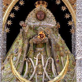 Bajada de la Virgen de Las Nieves en La Palma: tradición, devoción y fiesta. El viaje de Juba. 2/07/2015