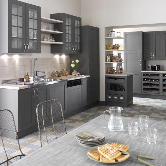 Meuble de cuisine gris delinia nuage cuisine pinterest for De cuisines conviviales