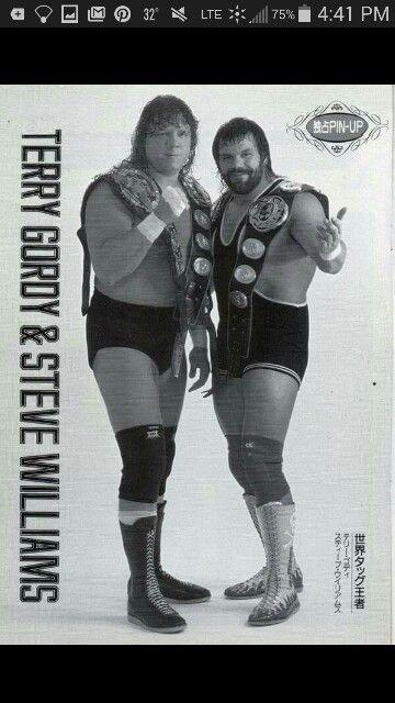 Terry Gordy &Steve Williams: former All Japan Pro Wrestling & NWA World Tag-Team Wrestling Champions.