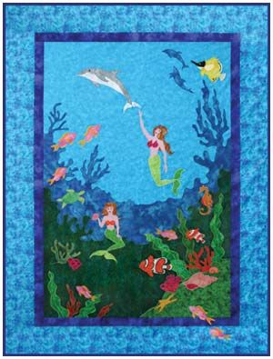 Mermaid S Garden By Needlesongs Original Quilt Patterns