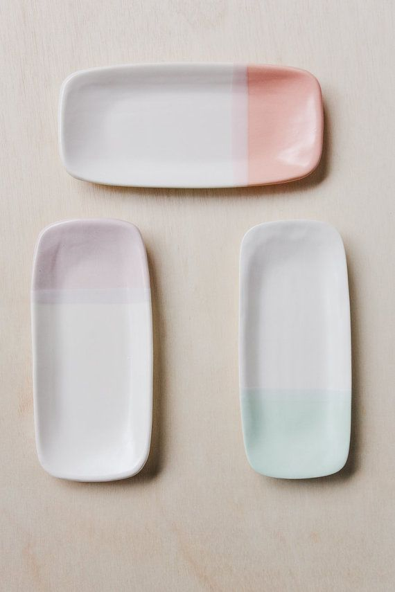 Small Serving Tray by paperandclaystudio on Etsy (Home & Living, Kitchen & Dining, Dining & Serving, Trays & Platters, Trays, ceramic, cobalt, blue, cloud, serving tray, platter, tray, rectangular, handbuilt, modern, scandinavian, paper and clay, handmade)