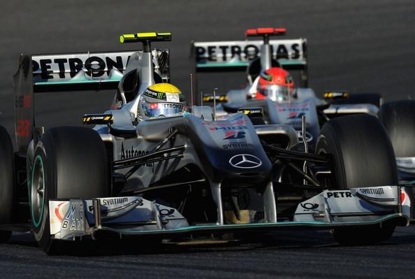 Michael Schumacher, Nico Rosberg, Mercedes AMG - F1 Grand Prix of Japan