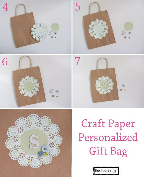 17 best images about gift wrapping ideas on pinterest for Craft paper gift bags