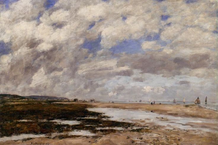 The Beach, Deauville - Eugene Boudin