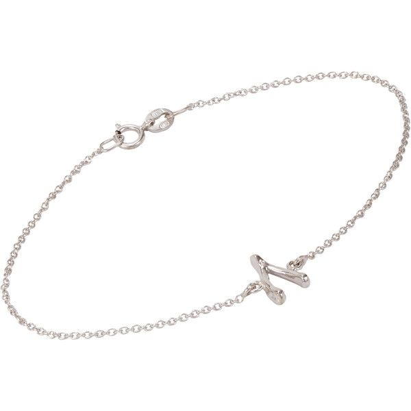 Jennifer Meyer Wishbone Charm Bracelet ($250) ❤ liked on Polyvore featuring jewelry, bracelets, necklaces, colorless, chain bracelet, white gold charm bracelet, white gold bangle, 14k white gold bangle e charm bangle