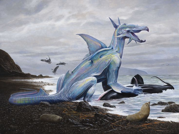 Wayne Barlowe Taniwha novaeseelandiae ngakensis (2012) http://waynebarlowe.wordpress.com/artwork/other-projects/
