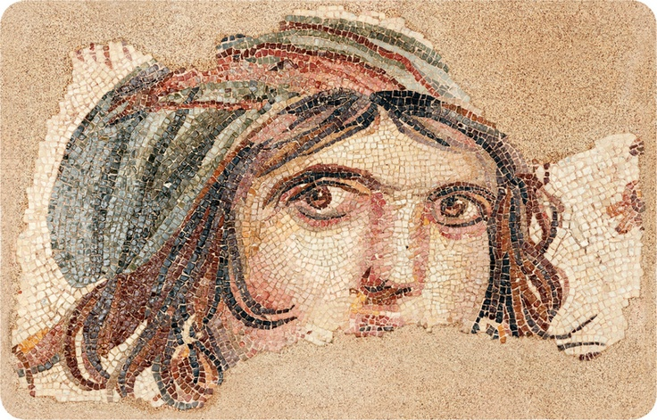 Zeugma mosaic portrait of a young woman