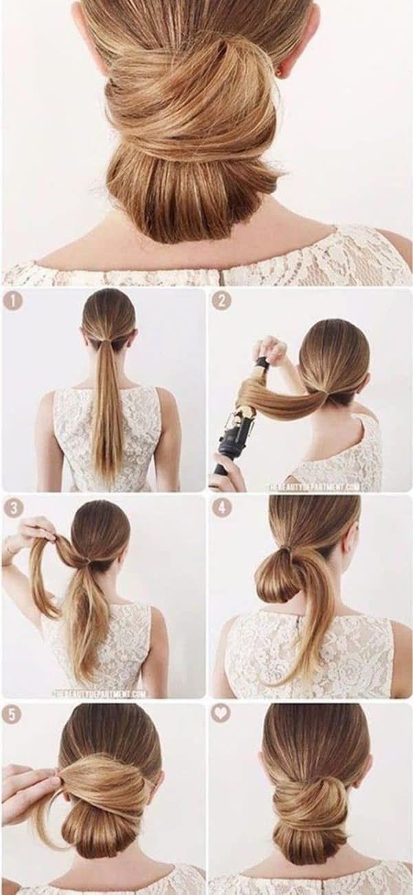 Gorgeous Office Hairstyle Tutorials That Will Make You Look Professional At Work In 2020 Bun Hairstyles Office Hairstyles Hair Bun Tutorial