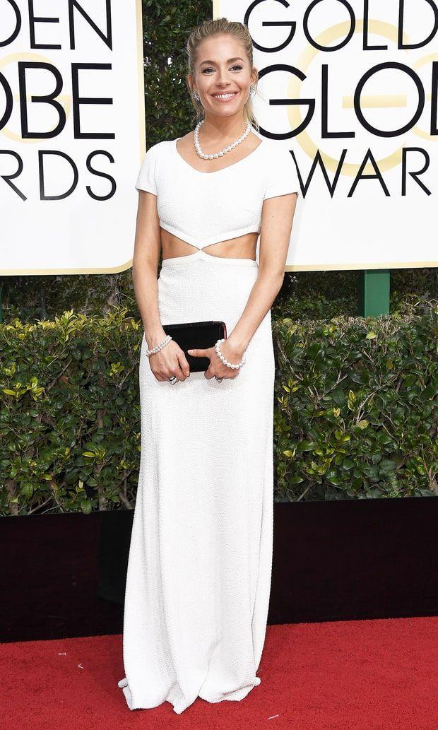 Sienna Miller in Michael Kors Collection 2017 Golden Globes