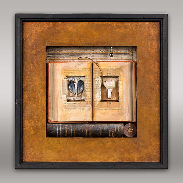 JEROME D'ANGELO - WORK#balanced#assemblage#mixedmedia#box#construction#painting#timepiece