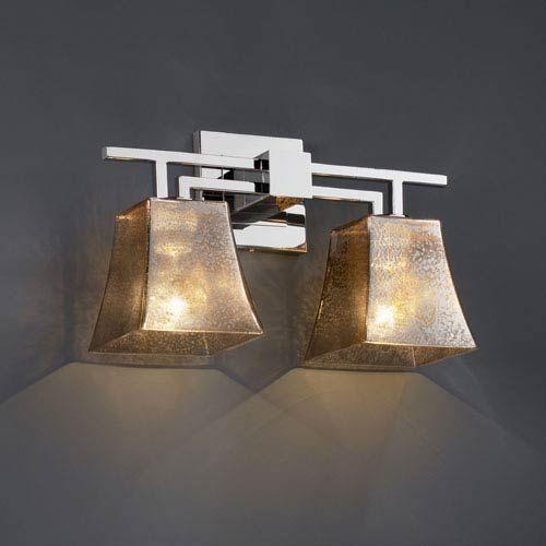 Justice Design Group Lighting FSN-8702-40-MROR-CROM Aero Two Light Bath Bar
