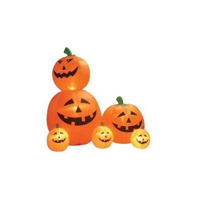 BZB Goods Halloween Inflatable Animated Pumpkins Decoration