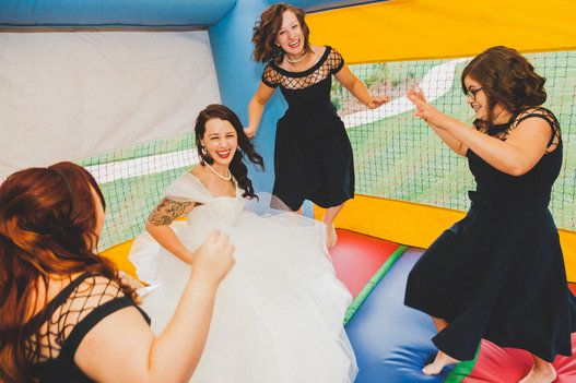 I want a wedding do over to have a bounce house at the reception.