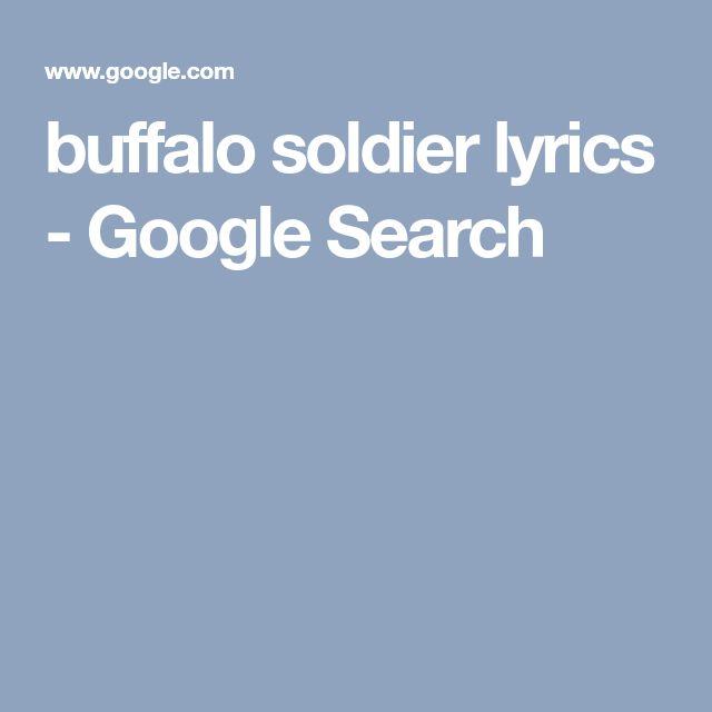 buffalo soldier lyrics - Google Search