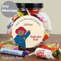 Personalised Paddington Bear Sweet Jar