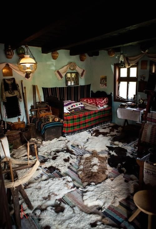 Pesteana Romania traditional romanian house rooms rural eastern europe