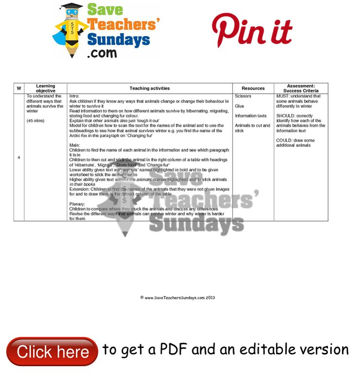 23 best images about Seasons lesson plans worksheets and teaching – Lesson Plan Worksheets