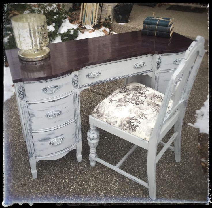 Classic Yet Edgy Desk. Distressed FurnitureRefinished ...