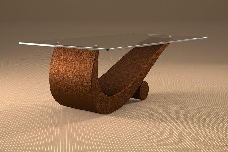 Articolo 43C-2     Tavolino da salotto FlexFinitura: moka.Misure: cm 110 x 65  - Altezza: cm 42 - Peso: Kg. 52Vetro: rettangolare -  temperato - extra white - filo lucido - spessore 1 cm