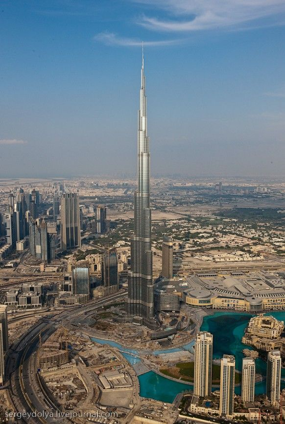 Burg Khalifa, the tallest building in the world located in Dubai.  Went to the top and was able to look over the edge!  Breathtaking!!
