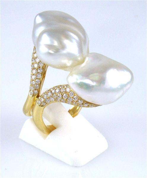 Emiko Pearls baroque South Sea pearl ring