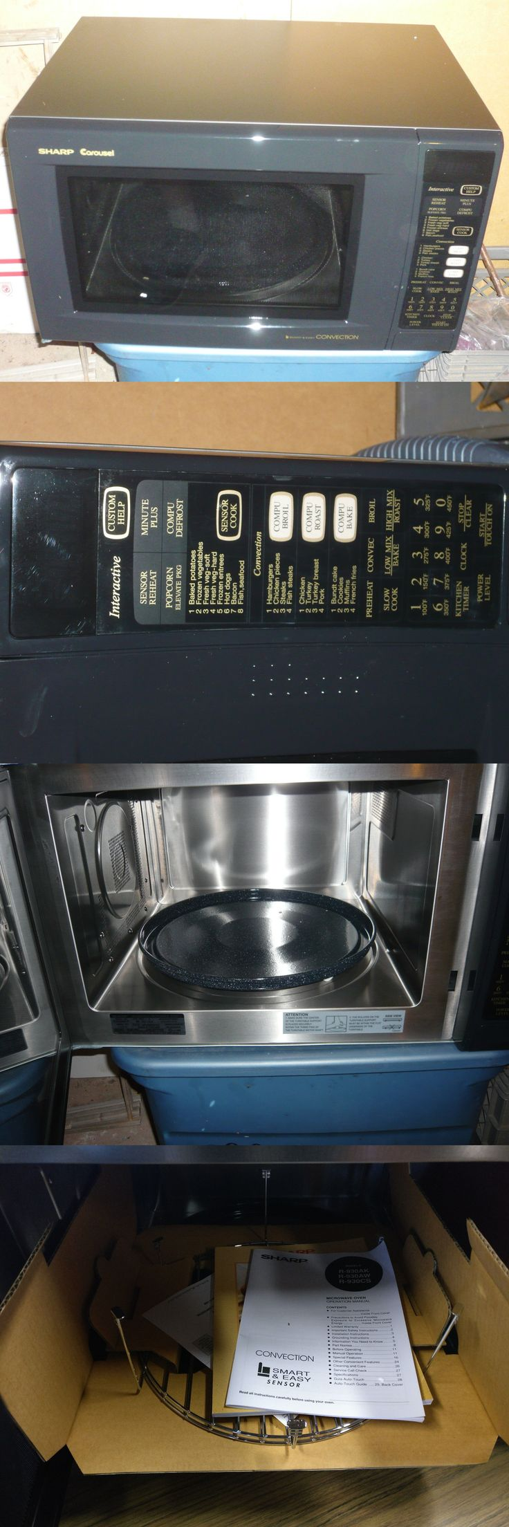 Microwave Ovens 150138: Sharp 1.5 Cu. Ft. 900W Convection Microwave In Black, R930ak -> BUY IT NOW ONLY: $275 on eBay!