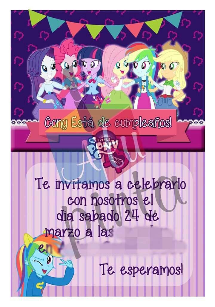 invitacion Equestria Girls