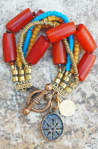 Kelly Conedera Bracelet | Exotic | Amber | Turquoise | Yellow | Bronze | XO Gallery | XO Gallery