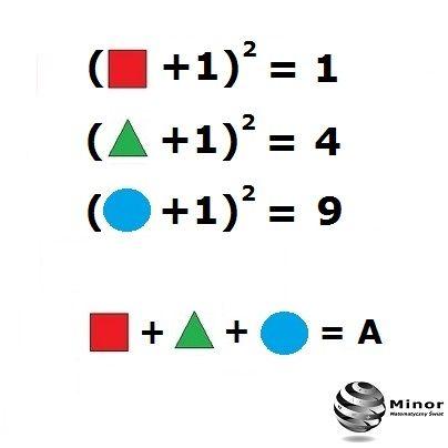Oblicz wartość liczby A.