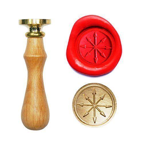 UNIQOOO Arts and Crafts Arrows Darts Compass Symbol Wax Sealing Stamp