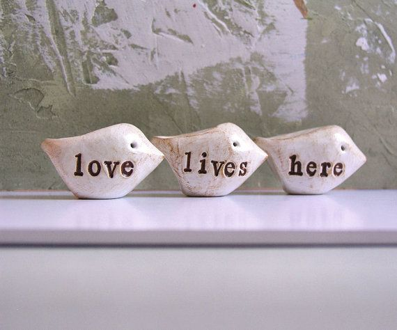 So cute for Valentine's...: Polymerclay, 43 00, Front Window, Clay Birds, Love Life, Awesome Etsy, Words Birds, Birthday Gifts, Handmade Polymer Clay