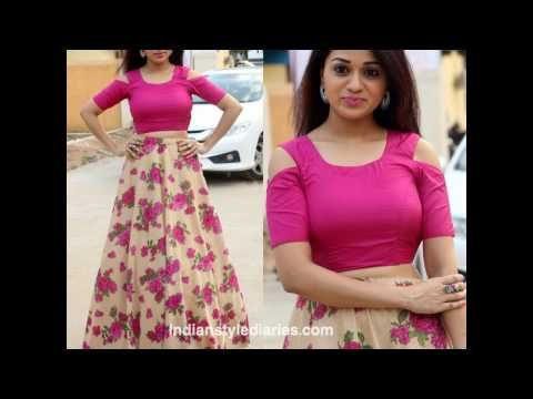 4598459feeb2b5 DIY Designer Crop Top For Lehenga or Maxi skirt - YouTube