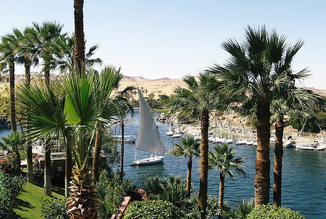 Aswan, Nile from Old Cataract Hotel by monopthalmos, via Flickr