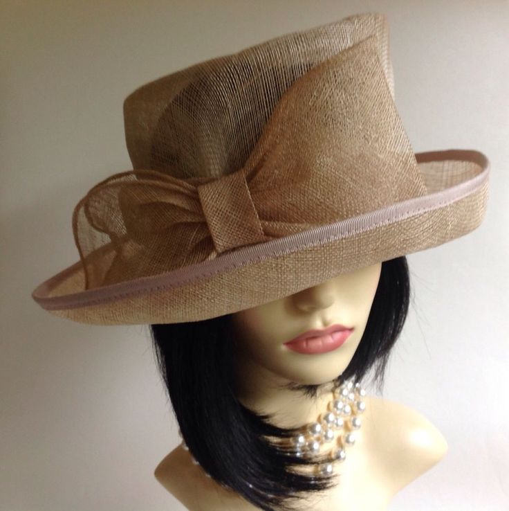 Marks Spencer Natural Straw Hat With Large Bow Detail Races Church Wedding